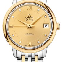 Omega De Ville Prestige Acero y oro 32.7mm Champán