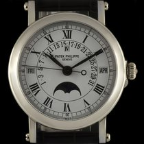 Patek Philippe 18k White Gold Perpetual Calendar Retrograde...