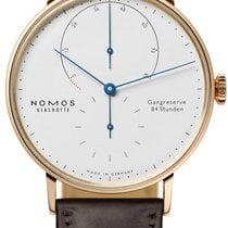 NOMOS Lambda Rose gold 39mm White United States of America, New York, Airmont