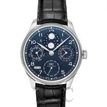 IWC Portugieser Perpetual Calendar Blue White Gold/Leather 44.2m