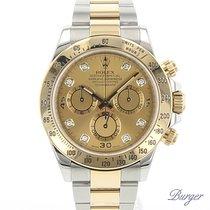 Rolex Daytona Steel/Gold Rolesor Champagne Diamond