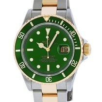 Rolex Submariner Date Gold/Steel 40mm Green No numerals