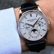 Patek Philippe 37.2mm Automatika 2008 použité Perpetual Calendar Stříbrná