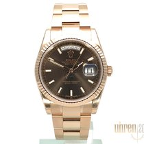 Rolex Day-Date 36 Rose gold 36mm Brown No numerals