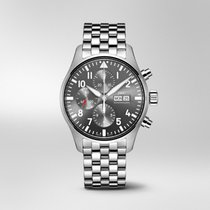 IWC Pilot Spitfire Chronograph Steel 43mm Grey Arabic numerals United States of America, Iowa, Des Moines