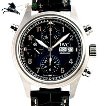 IWC Pilot Double Chronograph Steel 42mm Black