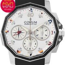 Corum Admiral's Cup Challenger nuevo Automático Cronógrafo Reloj con estuche y documentos originales 986.691.11/F371 AA92