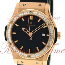 Hublot Rose gold Automatic Black No numerals 42mm pre-owned Classic Fusion 45, 42, 38, 33 mm