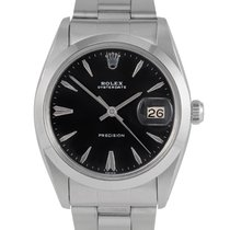 Rolex Oysterdate Precision  Steel with Black Dial, Ref: 6694
