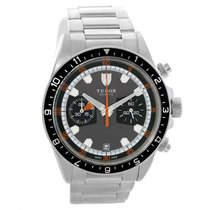 Tudor Heritage Chrono Grey Dial Steel Mens Watch 70330n