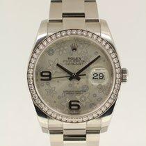 Rolex Datejust original diamond bezel from 2010 complete with B+P