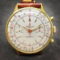 百年靈 Chronomat 808 Gold Plated Hand-Winding Mens Watch