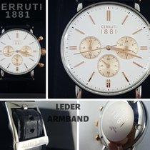 Cerruti 1881 CRA110E Chronograph Leder Armband