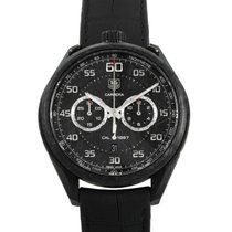 TAG Heuer Carrera Calibre 1887 pre-owned 45mm Chronograph Date Tachymeter Leather