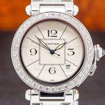 Cartier Pasha White gold 38mm White Arabic numerals United States of America, Massachusetts, Boston