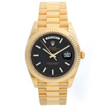 Rolex Day-Date 40 Yellow gold 40mm Black United States of America, Texas, Dallas