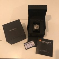 Hamilton Jazzmaster Open Heart pre-owned 40mm Black Leather