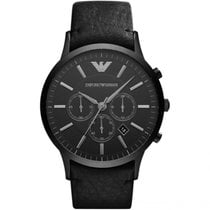 Armani Aço 46mm Quartzo Emporio Armani Men's Watch AR2461 novo