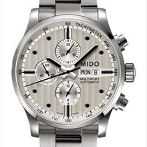 Mido Multifort Chronograph Steel 44mm Silver