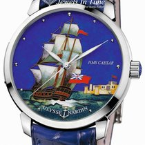Ulysse Nardin San Marco Cloisonné pre-owned 40mm Leather