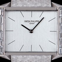 Patek Philippe White gold Manual winding Silver 29.5mm pre-owned Vintage