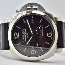 Panerai Luminor 1950 3 Days GMT Power Reserve Automatic Steel 44mm Black No numerals