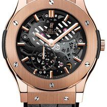 Hublot Classic Fusion Ultra-Thin pre-owned 45mm Transparent Leather