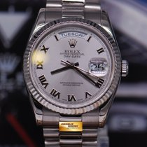 Rolex Oyster Day-date President 18k White Gold Automatic...