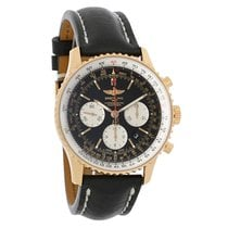 Breitling Navitimer 01 18K Rose Gold Mens Auto Watch AB012012/...