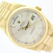 Rolex DAY-DATE PRESIDENT GOLD & SILVER DIAL
