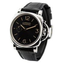 Panerai PAM00676, Luminor Due, Black Dial, Steel and Leather