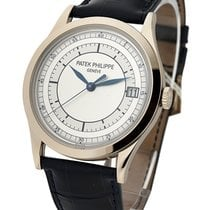 Patek Philippe 5296G-001 Calatrava 5296G in White Gold - on...