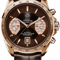 TAG Heuer Grand Carrera Rose gold 44mm Brown