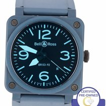 Bell & Ross BR 03-92 Ceramic pre-owned 42mm Blue Date Rubber