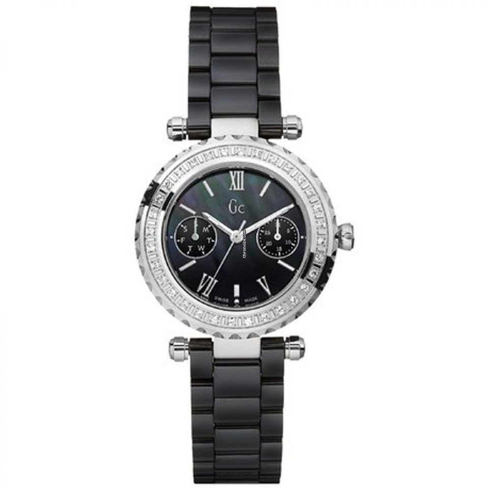 de3804f40 Guess Collection Diamonds Watch GC Diver Chic Ceramic Black... for 879 €  for sale from a Trusted Seller on Chrono24