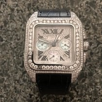 Cartier Santos 100 Steel Roman numerals United States of America, Massachusetts, Quincy