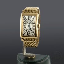 Franck Muller Reloj de dama Long Island Cuarzo usados Reloj con estuche original