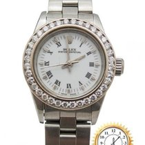 Rolex Oyster Perpetual Acero 25mm Blanco