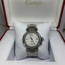 Cartier Pasha C Acero 35mm Blanco Árabes