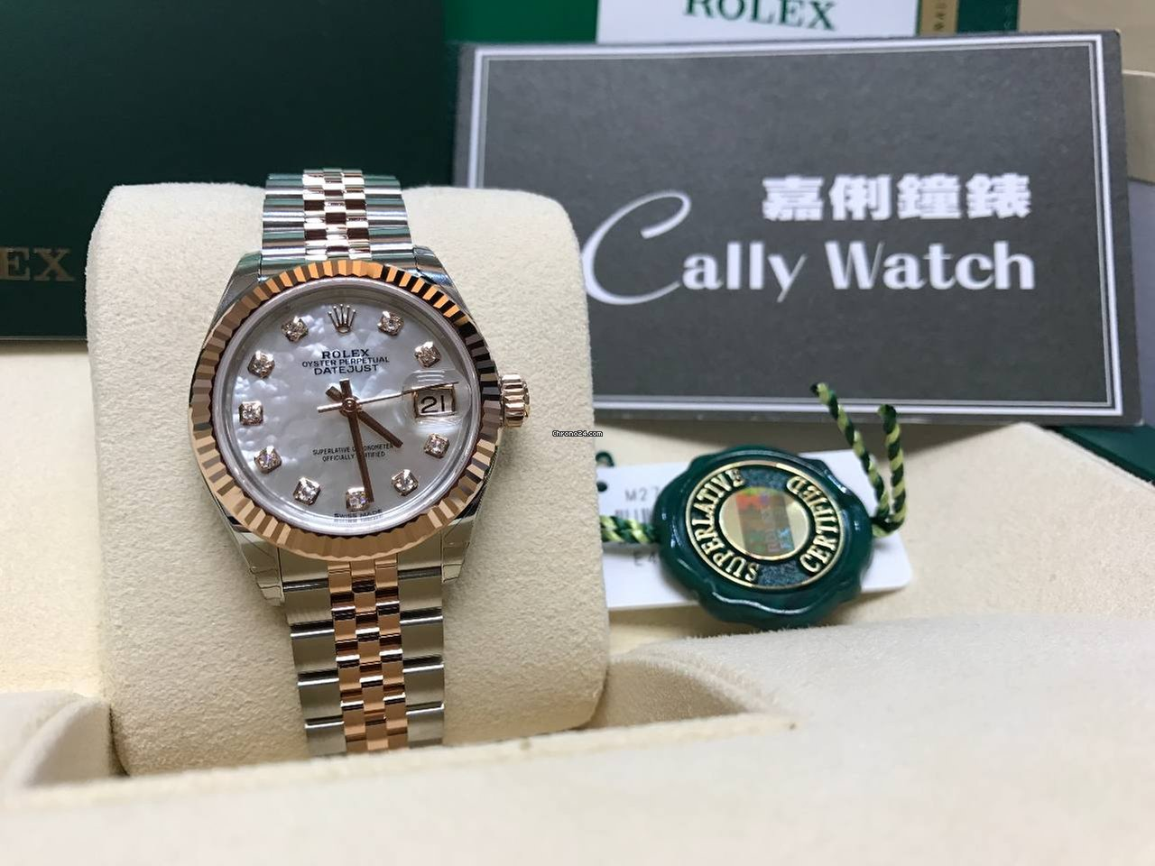 newest 6037a 74058 Rolex Cally - 28mm Datejust 279171 NG MOP Diamond 珍珠貝殼鑽石