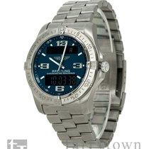 Breitling Chronograph 40mm Quartz pre-owned Aerospace Blue