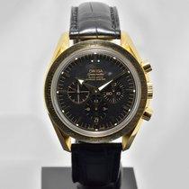 Omega Speedmaster Automatic Broad Arrow Chronometer 18k Gold