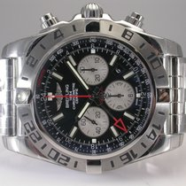 Breitling Chronomat Gmt Stainless Steel Black Dial Automatic...