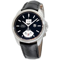 TAG Heuer Grand Carrera Black Dial Leather Strap Men's Watch...