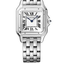 Cartier pre-owned Quartz 28mm Silver Sapphire crystal 3 ATM
