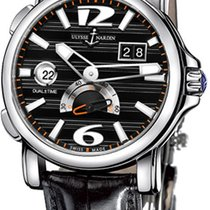 Ulysse Nardin Dual Time Steel 42mm Black Arabic numerals