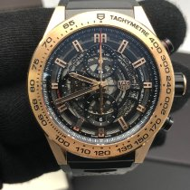 TAG Heuer Carrera Calibre HEUER 01 Or rose 45mm Transparent Sans chiffres France, paris