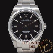 Rolex Oyster Perpetual 39 Acél 39mm Fekete Számjegyek nélkül