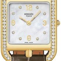 Hermès Yellow gold Quartz Mother of pearl 23mm new Cape Cod