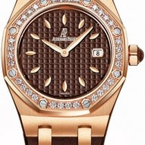 Audemars Piguet Royal Oak Lady Rose gold 33mm Brown No numerals